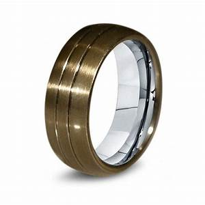 brass titanium ring brass men titanium from giftflavors With mens brass wedding ring