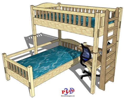 degree twin bunk beds   woodworking plans