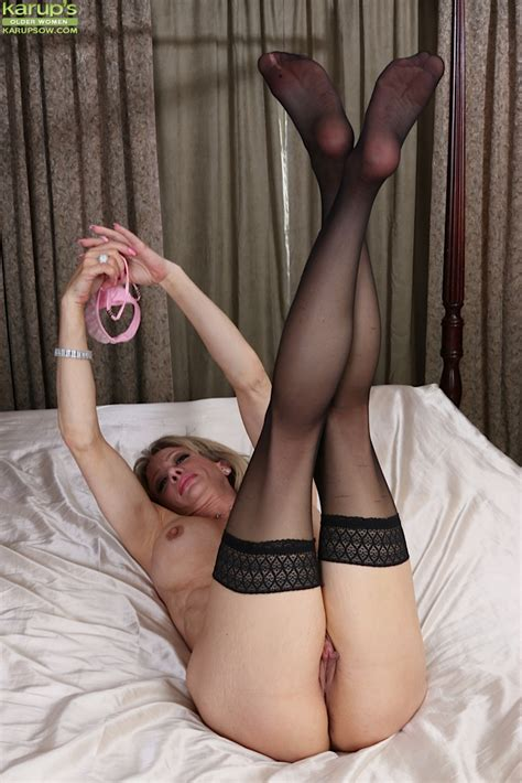 mature milf christina brim models sexy lingerie and black stockings