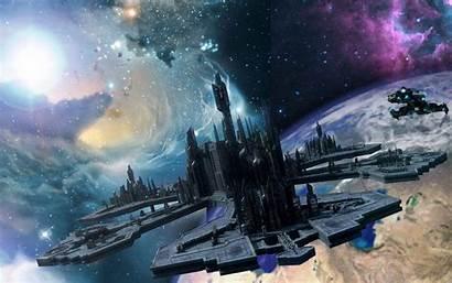 Station Space Stargate Atlantis Wallpapers Earth Desktop
