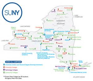 New York State SUNY Colleges Map
