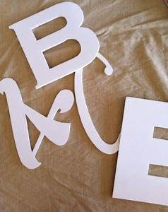 Foam board letters made with a silhouette awesome for Foam core letters