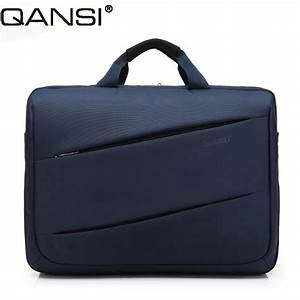 Fashion style men messenger bag 17 inch laptop bag solid color notebook computer shoulder bag ...