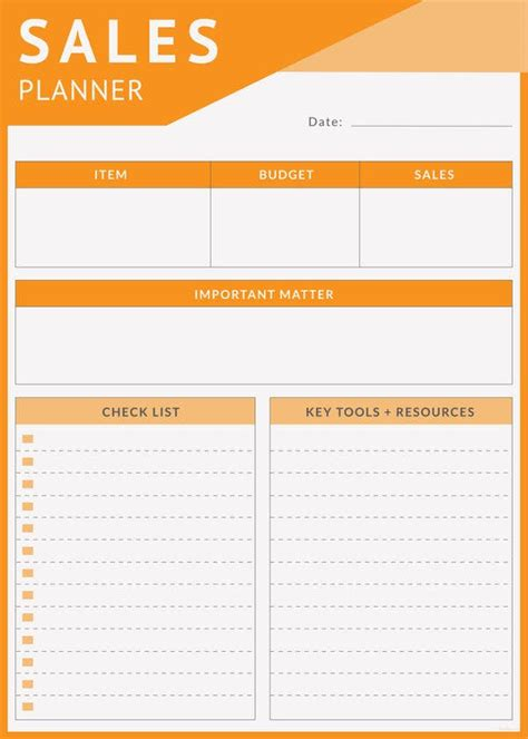 daily sales planner templates  sample