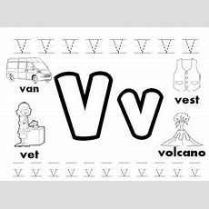Letter V Worksheets! By Kindergarten Swag  Teachers Pay Teachers