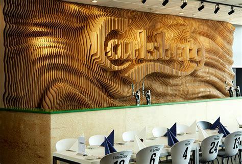 designers create  wall  carlsberg   laser cut