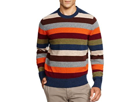 Brooks Brothers Multi Stripe Wool Sweater For Men
