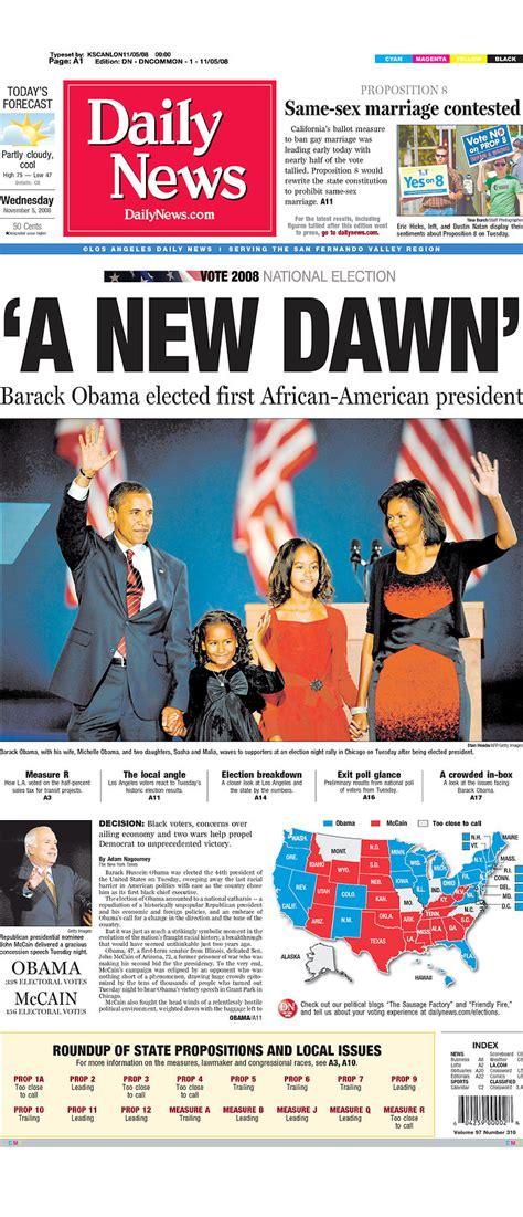 obama newspaper front page headlines  barack obama