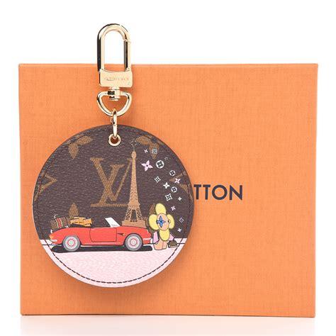 louis vuitton monogram vivienne xmas paris bag charm key holder