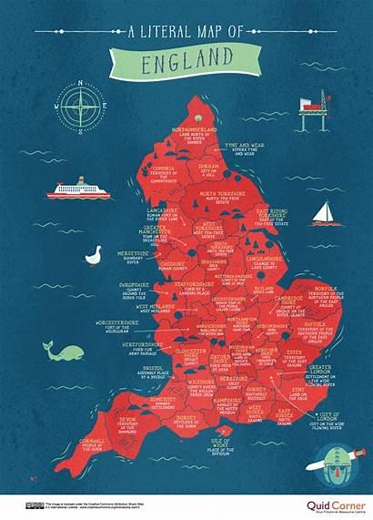 Map England Britain Kingdom British United Maps