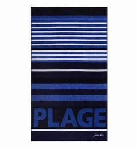 Drap De Plage Homme : serviette de plage drap de plage homme femme galeries lafayette ~ Teatrodelosmanantiales.com Idées de Décoration