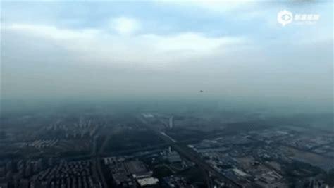 china  private drone  close call  jet fighter