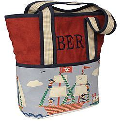 hoohobbers personalized diaper bag   ahoy design collection  alive  whimsical pirate