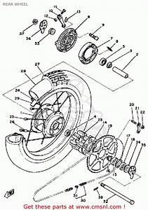 Yamaha Sr250 1981 Exciter1 Usa Rear Wheel