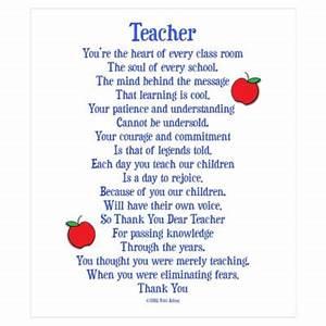 Preschool Christmas Poems for Teachers