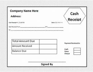 Cash receipt template free business templates for Receipt of funds template