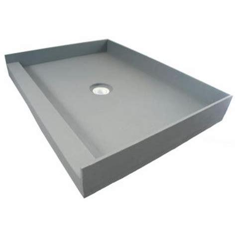 36 x 42 shower pan fin pan preformed 36 in x 42 in single threshold shower 7339
