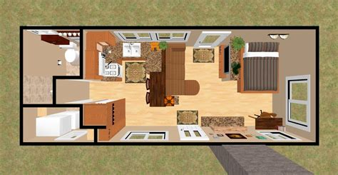 3d Top View Of The 360 Sq Ft