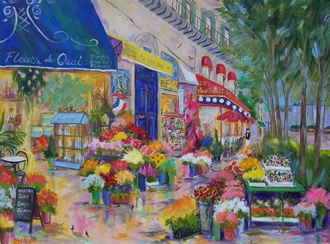 french flower shop painting  images art