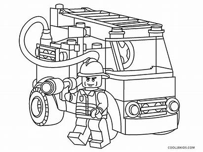 Fire Truck Pages Coloring Printable Lego Jurassic