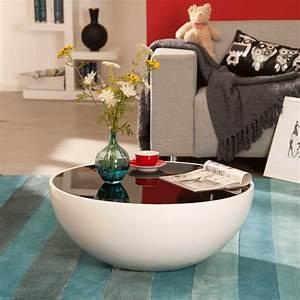 Tisch Rund Glas : couchtisch glas schwarz rund wohnzimmertisch glastisch tisch beistelltisch neu ebay ~ Frokenaadalensverden.com Haus und Dekorationen