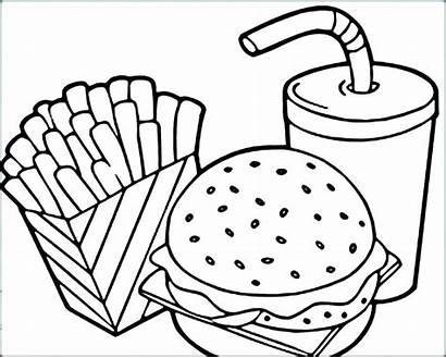 Coloring Fries Pages French Mcdonalds Printable Getcolorings