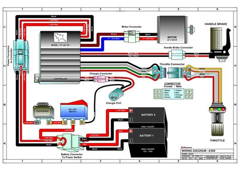Razor Scooter Battery Wiring Diagram by Razor E300 And E300s Electric Scooter Parts