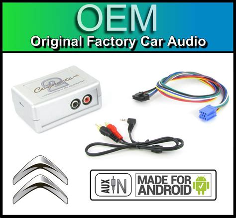 citroen c5 aux in lead car stereo android smartphone player connection adapter ebay
