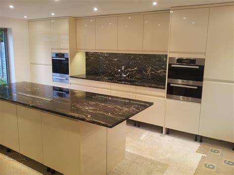 granit cuisine cosmic black granite worktops installed in frton
