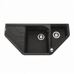 Evier Noir 1 Bac : vier d angle encastrer elleci avara 1 bac 1 2 1 ~ Dailycaller-alerts.com Idées de Décoration