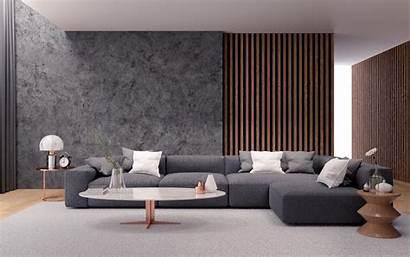 Living Interior Concrete Sofa Loft Gray Wallpapers