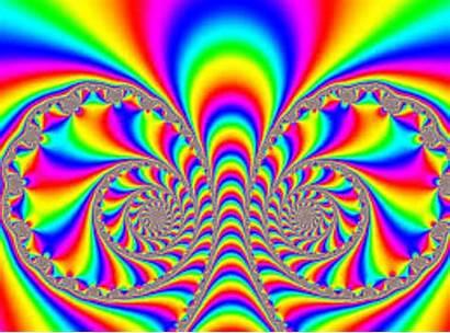Colorful Dizzy Trippy Optical Illusion Makes Stare