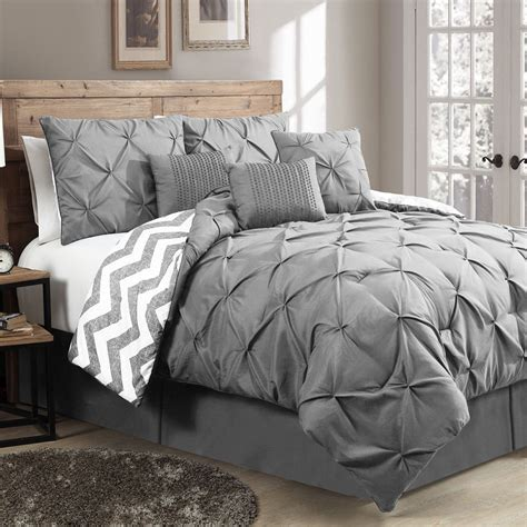new reversible 7 piece comforter set king size bed bedding