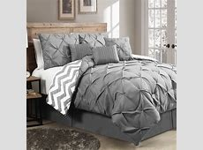 New Reversible 7Piece Comforter Set King Size Bed Bedding