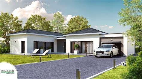 plan de maison plain pied 3 chambres avec garage maison contemporaine plain pied