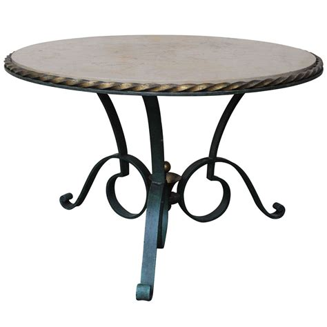 round wrought iron coffee table round wrought iron coffee table by robert merceris at 1stdibs