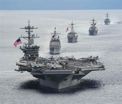 Uss Theodore Roosevelt Leads The Way In Military Exercise
