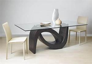 table de sejour salle a manger contemporaines mobilier de With salle a manger wave