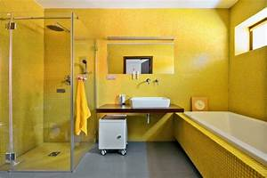 Wandfarbe Für Bad : wandfarbe gelb eine sonnige stimmung im badezimmer haben ~ Michelbontemps.com Haus und Dekorationen