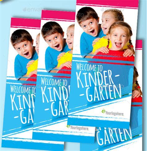 zehn kindergarten broschuere vorlagen  psd ai
