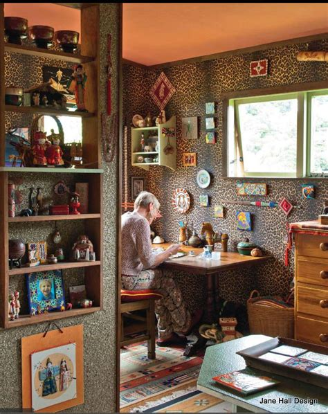 this bohemian style home of an artist was featured in new
