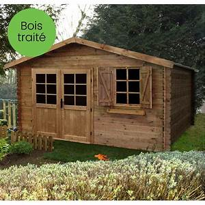 Abri De Bois : abri de jardin bois trait autoclave 17 39 m ep 28 mm ~ Melissatoandfro.com Idées de Décoration