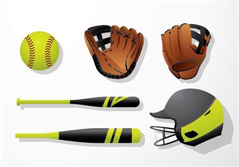 softball equipment  vector art   downloads