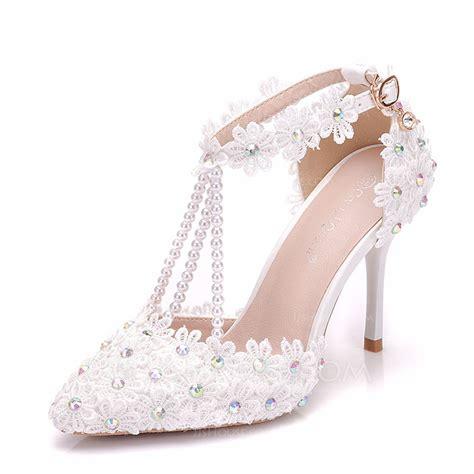 sandalen mit strass und perlen frauen kunstleder st 246 ckel absatz sandalen absatzschuhe mit
