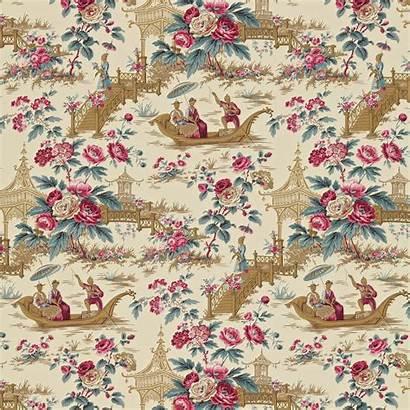 Sanderson Toile Parasols Pavillions Wallpapers Reproduction Chinoiserie