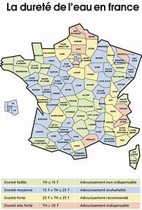 Test Dureté De L Eau : carte de la duret de l 39 eau en france ~ Premium-room.com Idées de Décoration