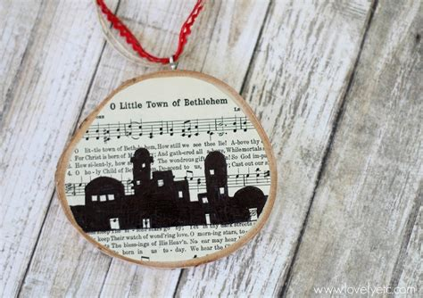 o little town of bethlehem ornament lovely etc