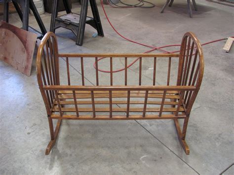 thomas nelson furniture restoration antique baby cradle