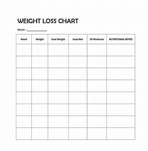 20 Printable Weight Loss Charts For Your Fitness Goals