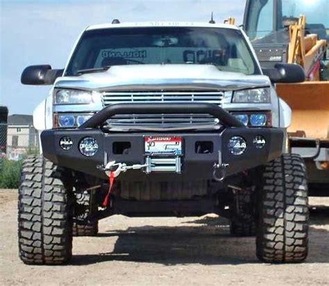 trail ready p winch front bumper  prerunner guard chevy silverado hd